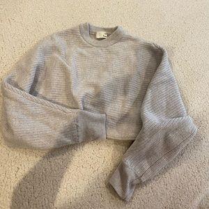 Wilfred Aritzia Grey Cropped Sweater